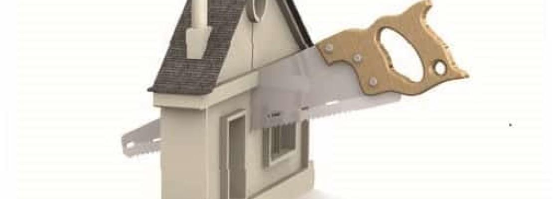 Immagine di casa tagliata , esempio di frazionamento immobiliare