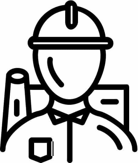 Icona di un tecnico professionista in edilizia