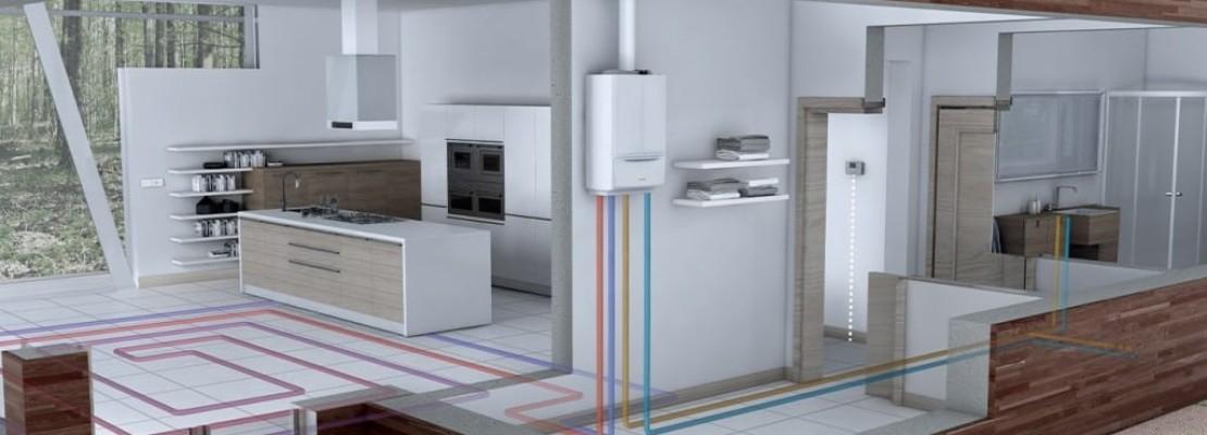 Caldaia a condensazione installata e in funzione su casa