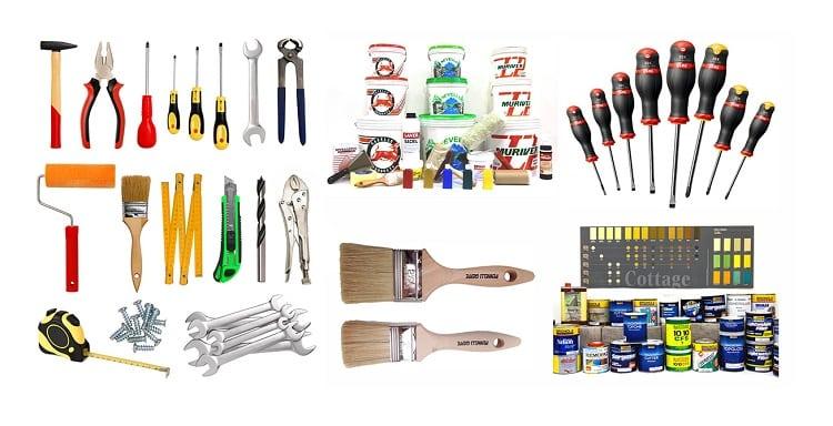 Vari prodotti della ferramenta