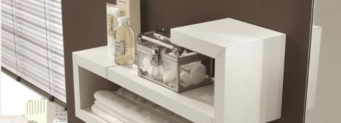 Una mensola in stile moderno per il bagno