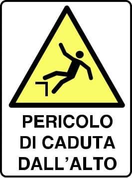Avviso di pericolo di caduta dall'alto