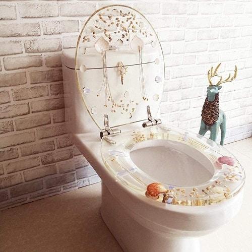 Un sedile wc in stile moderno