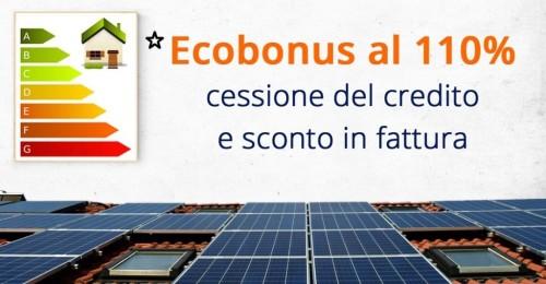 Ecobonus al 110 per cento con cessione e sconto in fattura