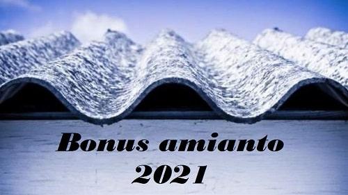 Bonus amianto 2021